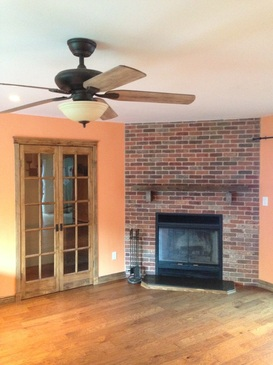 Fireplace / Stained Doors / Ceiling Fan